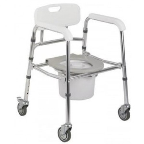 MOBILE MODE CUM SHOWER CHAIR With WHEELS