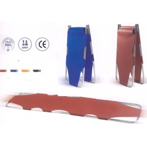 FOLD STRETCHER WITH PATIENT STRAP